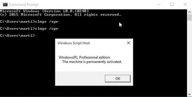 Windows 10 command prompt activationgresize618313ssl1 check if windows 10 is activated ghacks tech news ccuart Images