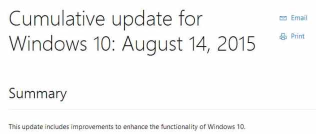 windows cumulative update