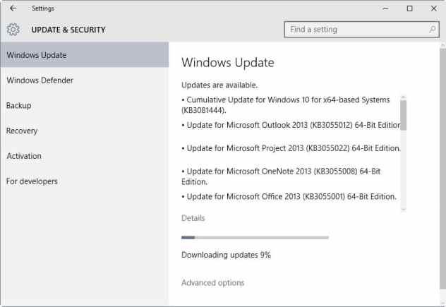 windows update critical-internet explorer kb3081444