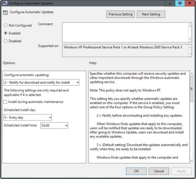 block automatic windows updates