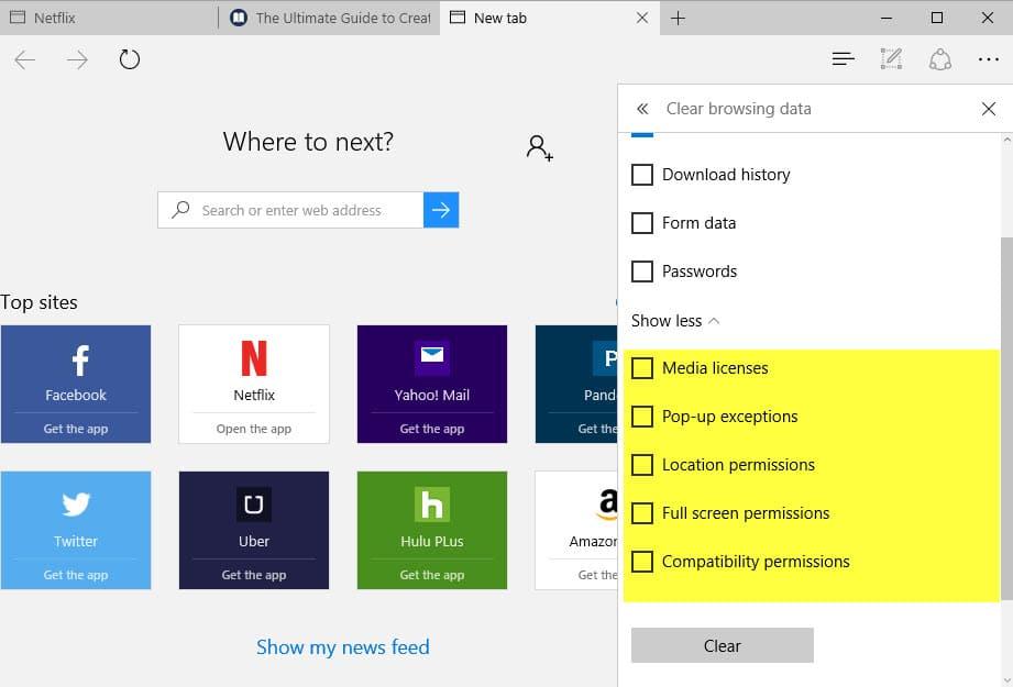 Cara Reset Microsoft Edge di Windows 10