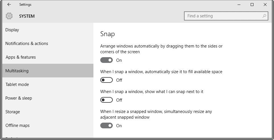 Cara Mengelola fungsi Snap di Windows 10