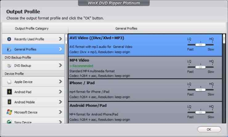 winx dvd ripper platinum output