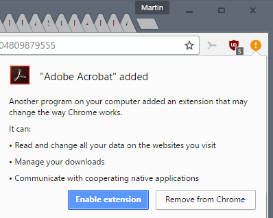 adobe acrobat chrome extension