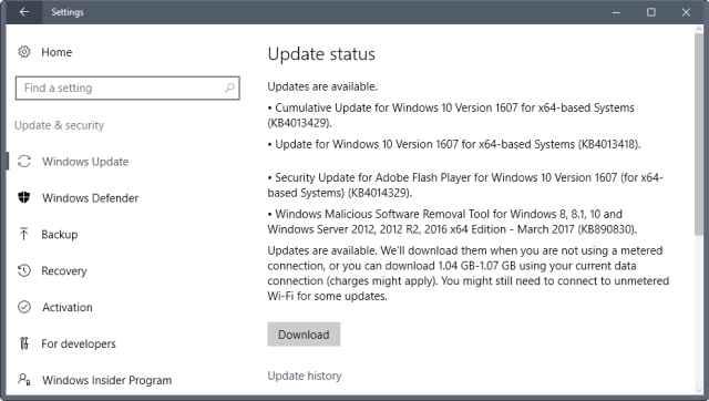 march 2017 windows security updates