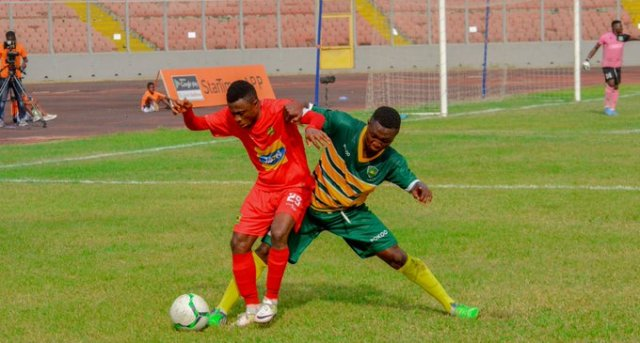 Asante Kotoko leave it late to beat Dwarfs in Kumasi