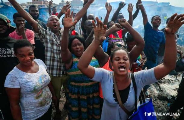 Government resettles Kantamanto traders temporarily at Accra Railway Station