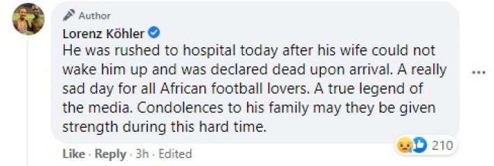 Ghanaian sports journalist Cudjoe Amankwaa dies in South Africa 1