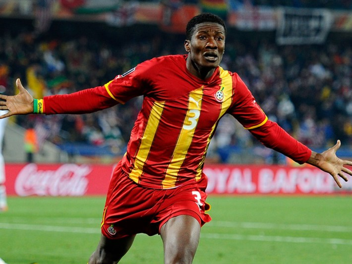 Stellar performances in all three of Ghana's World Cup have made Asamoah Gyan the  leading African goalscorer in tournament history.
