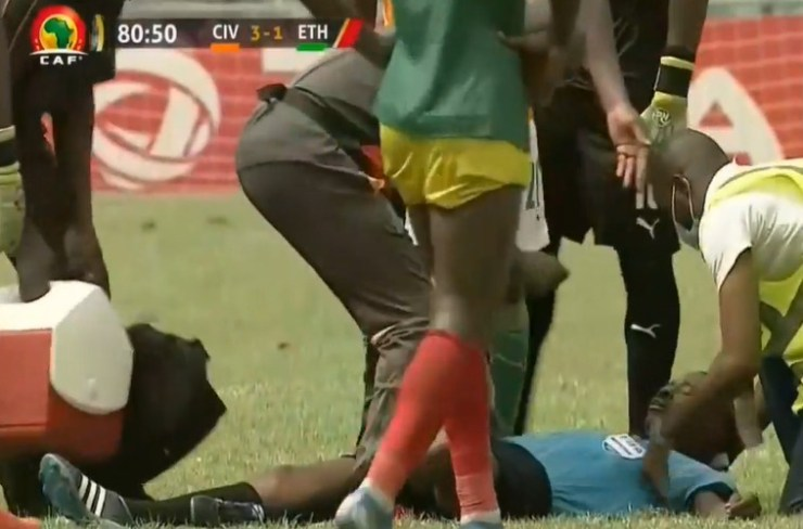 Breaking News: Ghanaian referee Charles Bulu collapses while officiating Afcon qualifier between Ivory Coast and Ethiopia