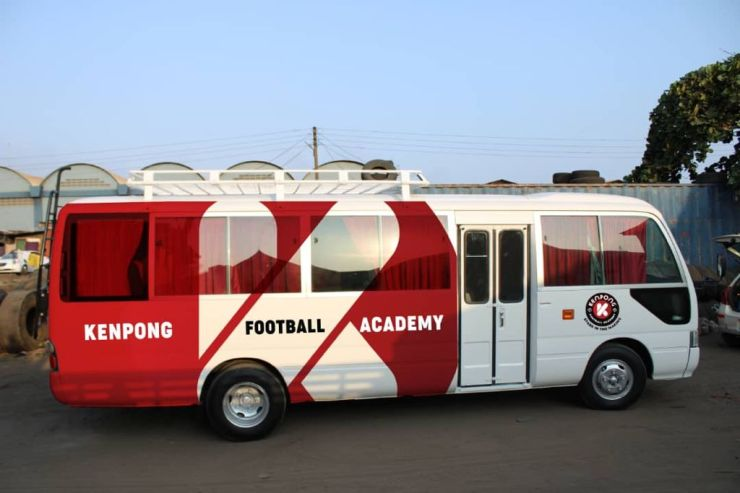 Check out the new bus of Kenpong Football academy which has toilet and Wi-Fi facilities
