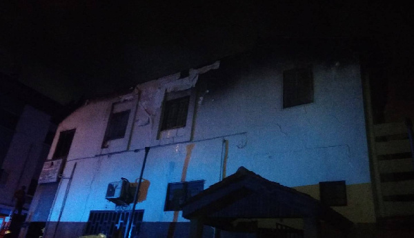Fire guts offices of Ghana Business News in Accra