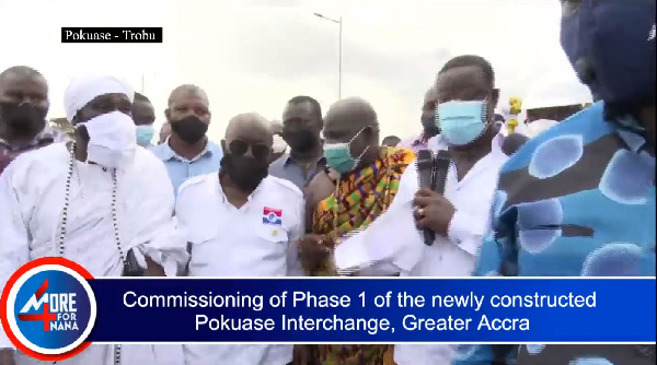 Akufo-Addo commissions phase one of Pokuase interchange