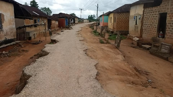 We'll vote against Akufo-Addo because of poor roads - Chief, residents of Hasowodze 1