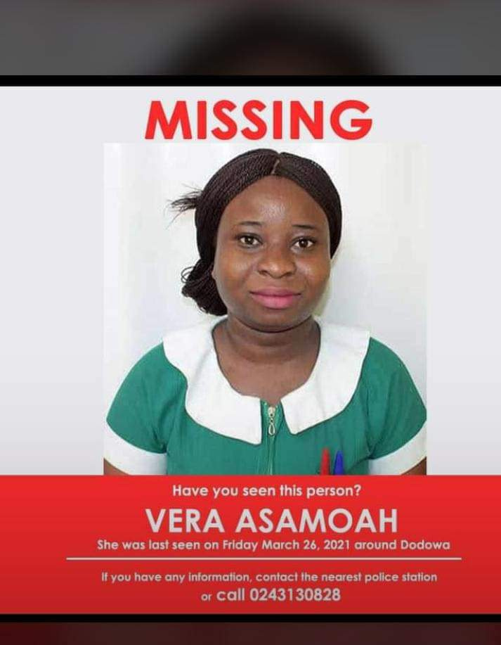 Vera Asamoah has since Friday, March 26, not been found