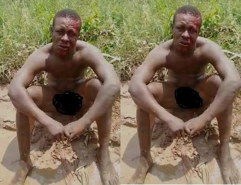 Robber nearly lynched after robbing MoMo merchant at Kasoa Ofaakor