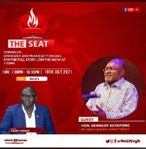 Kennedy Agyapong is on Net TV's 'The Seat' program