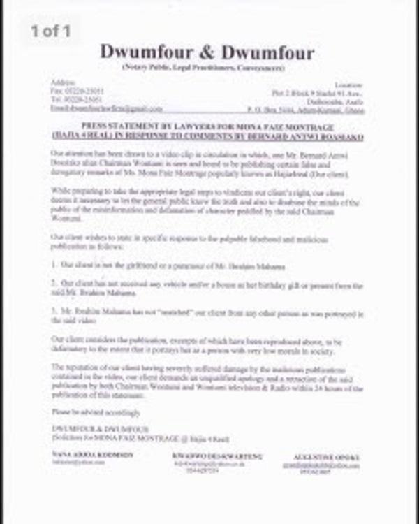 35876778 Hajia4Real threatens to sue Chairman Wontumi