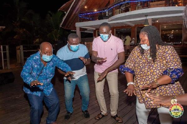 Photos: MPs defy Akufo-Addo's directive to organise a party at Aqua Safari 7