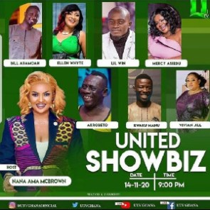 United ShowBiz is hosted by actress Nana Ama McBrown