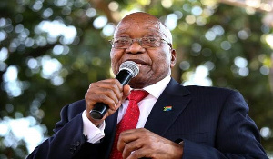 A photo of Former South African President Jacob Zuma