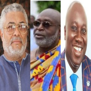 Former President Jerry John Rawlings, Victor Newman and Mfantseman MP, Ekow Hayford