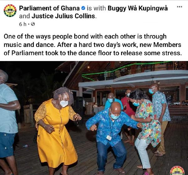 Photos: MPs defy Akufo-Addo's directive to organise a party at Aqua Safari 2