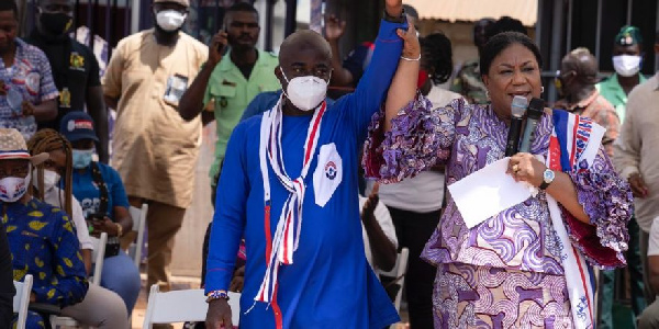 Vote NPP after trying NDC for 28 years with little devt -First Lady to Ningo-Prampram residents