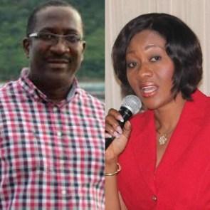 CEO of Citi FM Samuel Atta Mensah (L) and EC Chairperson Jean Mensah (R)