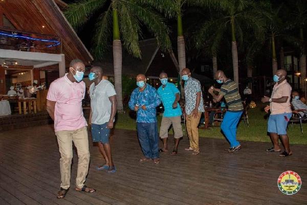 Photos: MPs defy Akufo-Addo's directive to organise a party at Aqua Safari 15