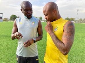 Black Stars coach, CK Akonnor and captain, Andre Dede Ayew