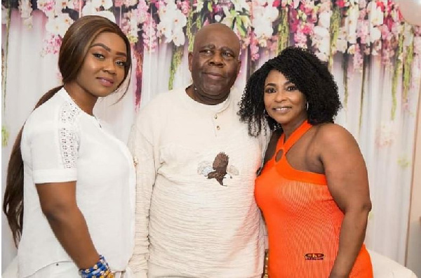 Kyeiwaa with her new husband and a family member