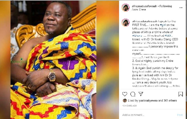 May I never give birth if I've ever slept with Dr. Oteng - Actress 2