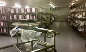 Decomposing, unidentified bodies have been piling up in two cold rooms since 2010