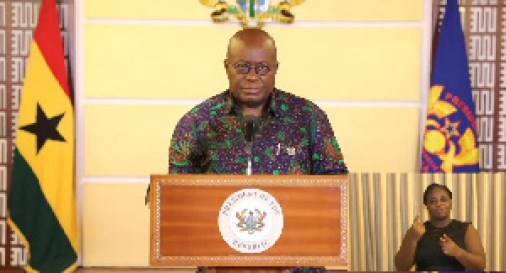 President Akufo-Addo lifted the restriction of movement in some parts of the country
