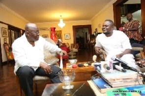 Gospel musician Cwesi Oteng with Nana Addo Dankwa Akufo-Addo