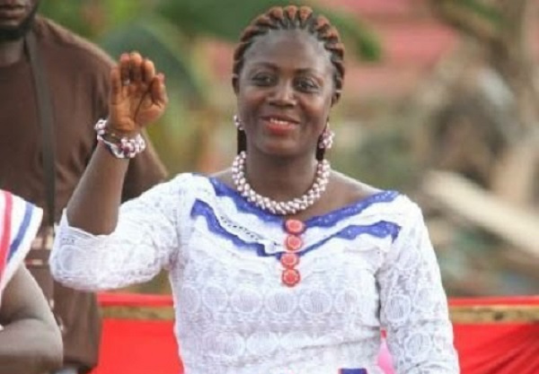 Ama Sey canvasses votes for NPP at Akroso