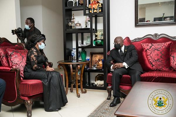 Akufo-Addo commiserates with Konadu, family of Rawlings