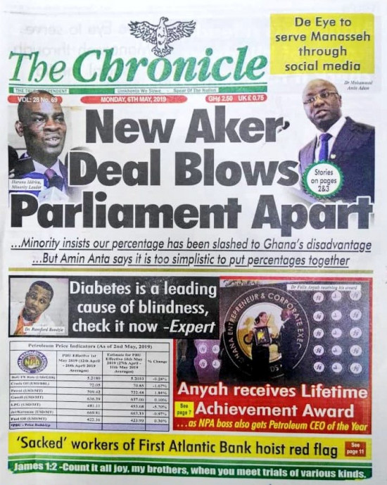 Newspaper Headlines of Monday, 6 May 2019 (PHOTOS) 6
