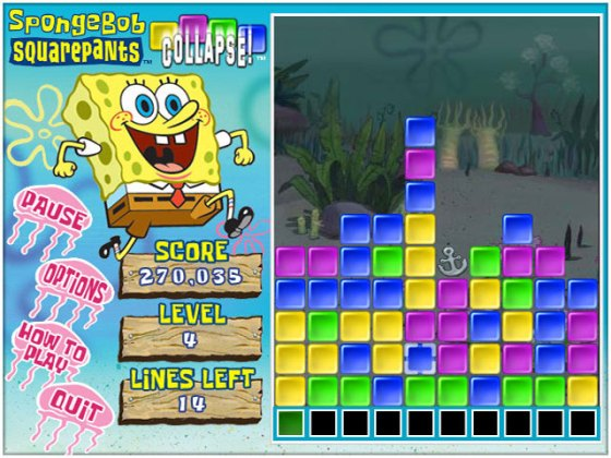 SpongeBob SquarePants Collapse    GameHouse SpongeBob SquarePants Collapse  gameplay
