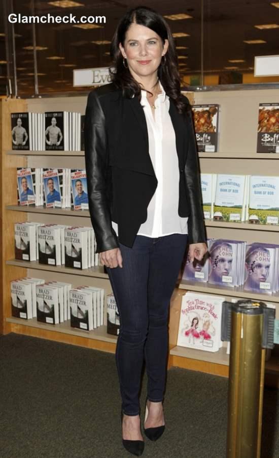 Lauren Graham Goes Monochrome To Promote New Book Someday