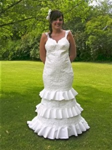 Toilet paper wedding dresses toiletpaper wedding gowns5