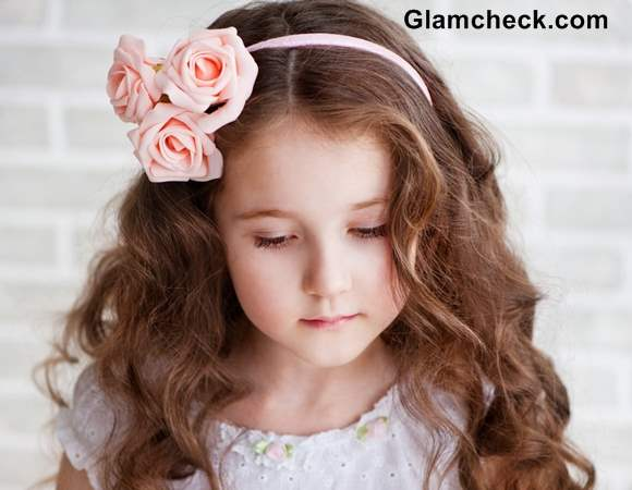 Floral Hair Accessory For Little Girls Flower Hair