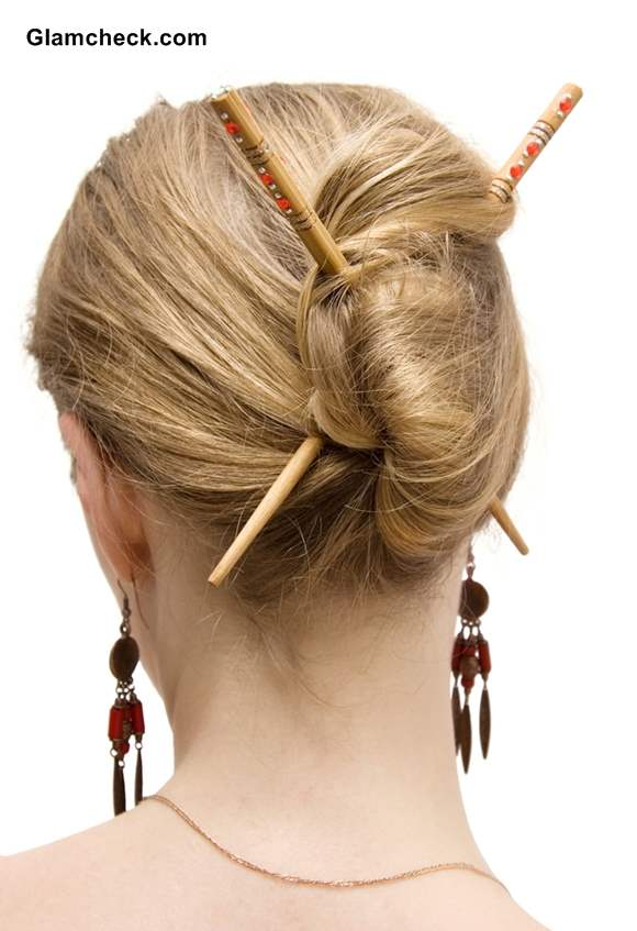 3 Stylish Coiffures With Asian Hair Sticks