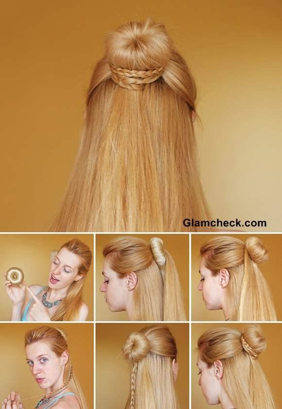 Hairstyle How To Cinderella Braid Knot Bun