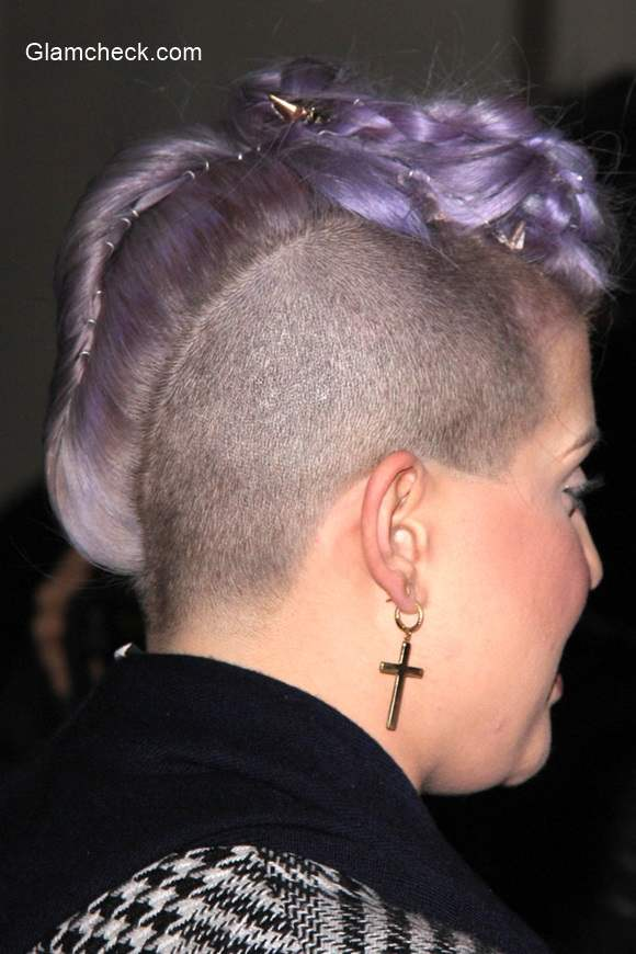 Kelly Osbourne Sports Edgy Braided Mohawk At Besides