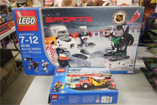 Boxed Lego Sports NHL Ice Hockey  unchecked  and a boxed Lego City     Boxed Lego Sports NHL Ice Hockey  unchecked  and a boxed Lego City 60002  Fire Engine  sealed bag
