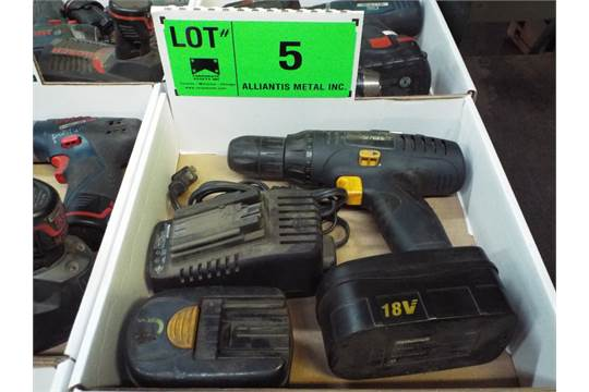 Mastercraft 18v Cordless Drill With