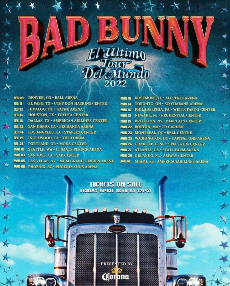 Bad Bunny Presale Codes For El Ultimo Tour Del Mundo Tour 2022