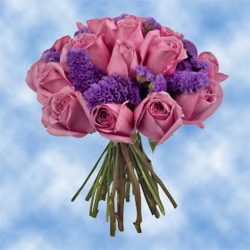 Purple Roses with Statice Flowers Centerpieces for Wedding     Purple Roses with Statice Flowers Centerpieces for Wedding Receptions